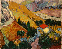 Landscape with House and Ploughman von Vincent Van Gogh