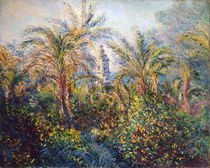 Garden in Bordighera, Impression of Morning von Claude Monet
