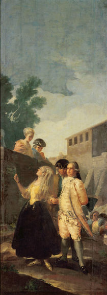 The Soldier and the Young Lady by Francisco Jose de Goya y Lucientes