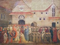 Consecration of the New Church of St. Egidio by Pope Martin V von Bicci di Lorenzo