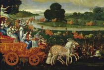 Earth, detail of the left carriage with nine Muses by Claude Deruet
