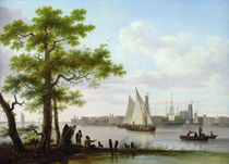 Town on an estuary, c.1801-02 by Frans Swagers