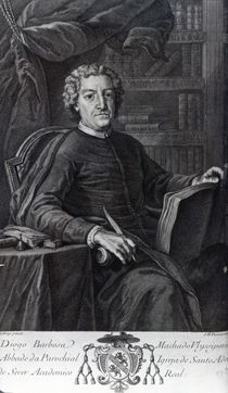 Diogo Barbosa Machado, frontispiece to his 'Bibliotheca Lusitana' by German School