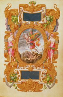 The archangel Saint Michael defeats the dragon by Jean the Elder Cousin