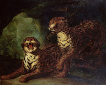 Two Leopards, c. 1820 by Theodore Gericault