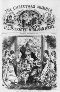 Bringing in Christmas, front cover of the 'Illustrated Midland News' by Fritz Eltze