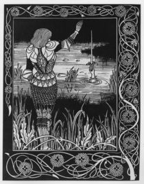 How Sir Bedivere Cast the Sword Excalibur into the Water von Aubrey Beardsley