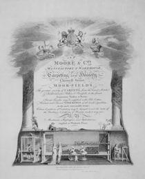 Moore & Co. Trade Card von English School