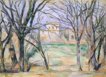 Trees and houses, 1885-86 by Paul Cezanne