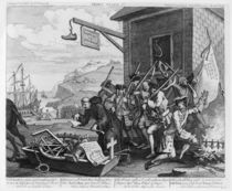 France, Plate I of 'The Invasion' by William Hogarth