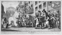 Burning ye Rumps at Temple-Barr by William Hogarth