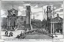 View of the gates at the entrance to the Arsenal in Venice von German School
