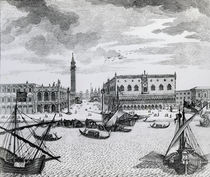 View of Piazza San Marco from the Bacino von Francesco Zucchi