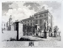 A perspective view of the Foundling Hospital von Samuel Wale