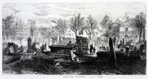 Bunhill Fields, January 1866 by English School
