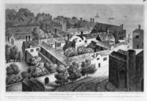 Winchester House, Southwark in about 1649 by Wenceslaus Hollar