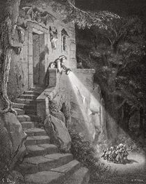 The Dwelling of the Ogre, engraved by Heliodore Joseph Pisan c.1868 by Gustave Dore