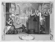 The Industrious 'Prentice Performing the Duty of a Christian von William Hogarth