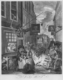 Times of the Day, Night, 1738 von William Hogarth