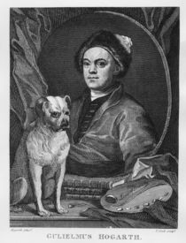 Self Portrait, engraved by T. Cook by William Hogarth