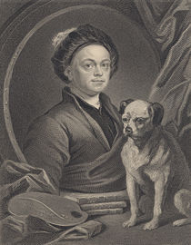Self Portrait, engraved by J. Mollison by William Hogarth