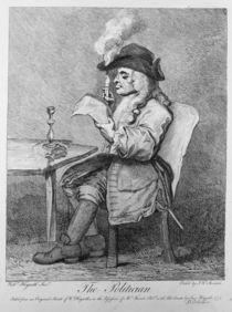 The Politician, etched by John Keyse Sherwin von William Hogarth
