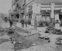 Removing the cobblestones outside the Criterion Theatre by English Photographer