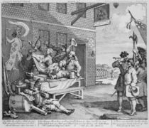England, Plate II of 'The Invasion' by William Hogarth