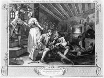 The Idle 'Prentice Betrayed by a Prostitute by William Hogarth