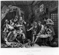 The Rake in Prison, plate VII by William Hogarth