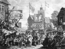 Southwark Fair, 1733 von William Hogarth