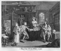 Marriage a la Mode, Plate III von William Hogarth