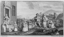 The Foundlings, engraved by Francois Morellon La Cave von William Hogarth