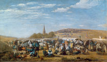 The Pardon of Sainte-Anne-La-Palud by Eugene Louis Boudin