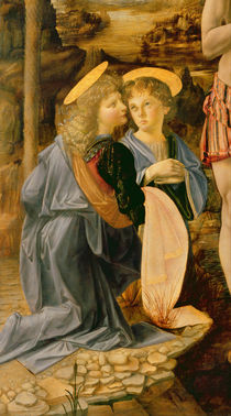 The Baptism of Christ by John the Baptist by Andrea & Vinci, Leonardo da Verrocchio