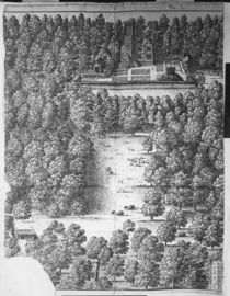 Boscobel House and Park, 1651 by Wenceslaus Hollar