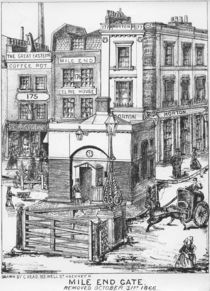 Mile End Gate, c.1866 by English School