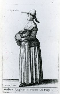 English Country Woman, 1643 von Wenceslaus Hollar
