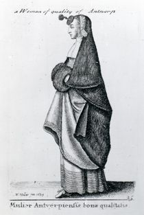 Woman of Quality from Antwerp by Wenceslaus Hollar