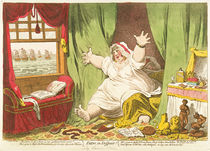 Dido in Despair, published by Hannah Humphrey von James Gillray