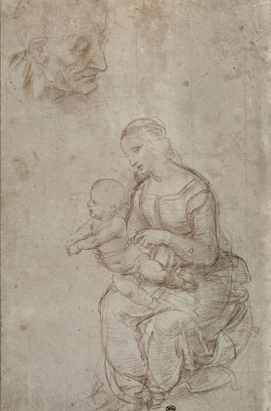 michelangelo drawing madonna and child 1525 - HD789×1200