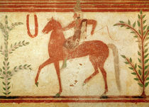 Horseman, right hand side, from the Tomb of the Baron, c.500 BC von Etruscan