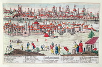 Panoramic view of Constantinople by German School