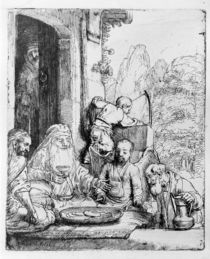 Abraham entertaining the angels von Rembrandt Harmenszoon van Rijn