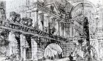 Temple Courtyard von Giovanni Battista Piranesi