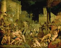 Bacchus in the Court of Midas by Dirk Valkenburg