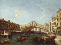 The Rialto in Venice by Canaletto