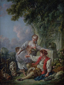 Obedience Rewarded, or The Education of a Dog von Francois Boucher