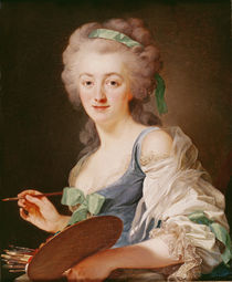 Portrait of Anne Vallayer-Coster von Alexander Roslin