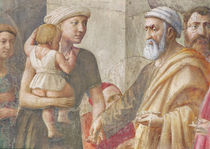 Detail of St Peter and the woman and child von Tommaso Masaccio